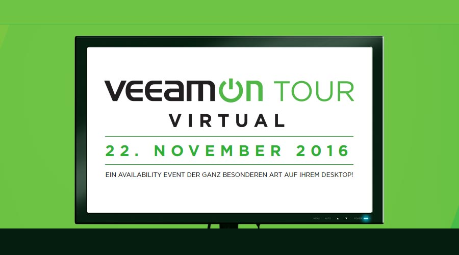 Veeam on Tour – 22.Novem­ber 2016